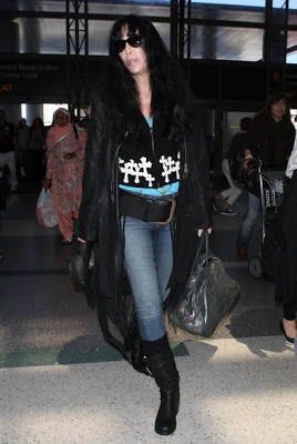 Cher sporting sunglasses at LAX Airport