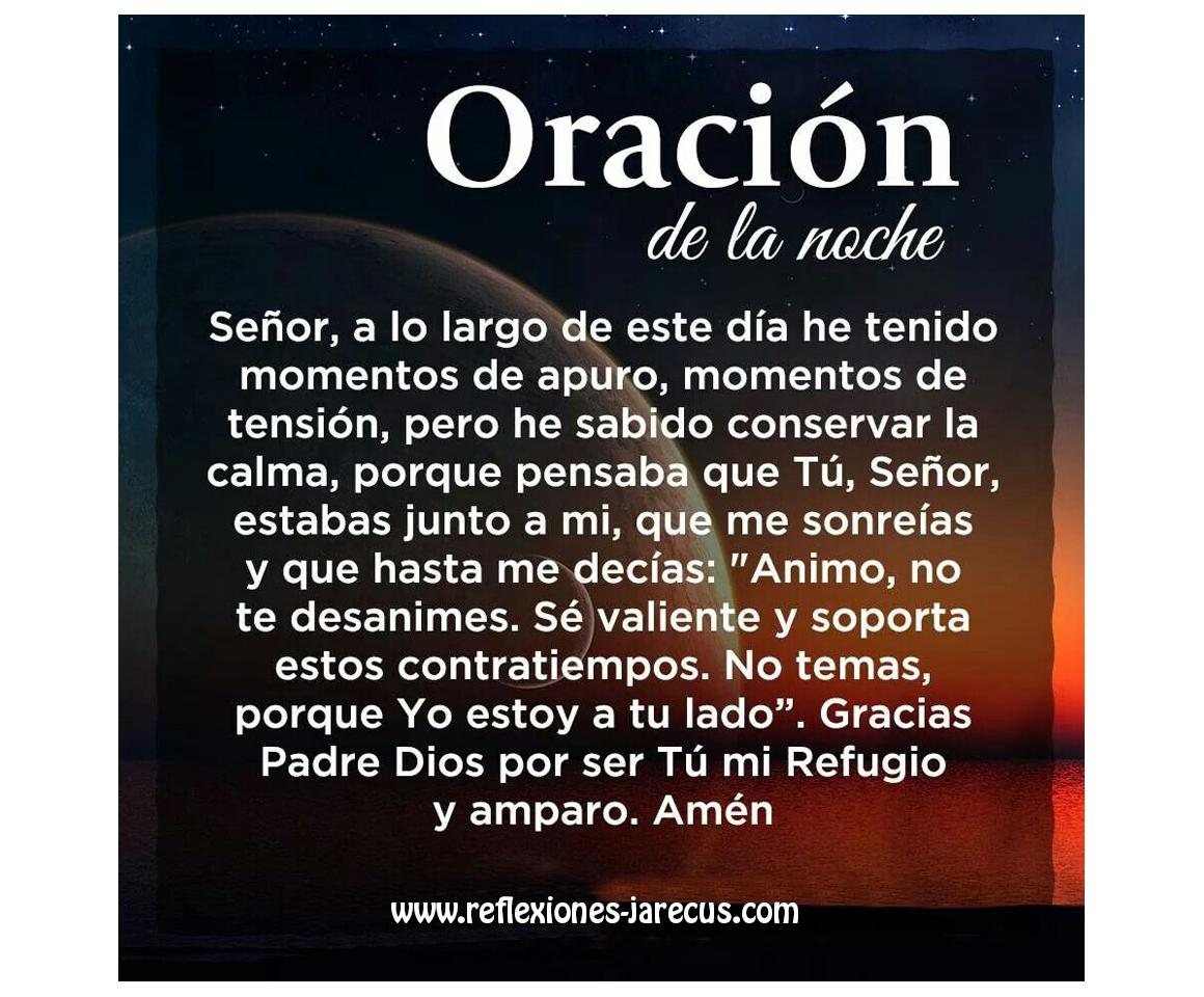 Oraciones, Oración de la noche, Oración de agradecimiento,