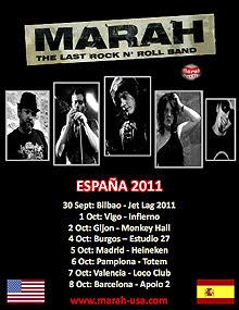 Marah gira española en Octubre