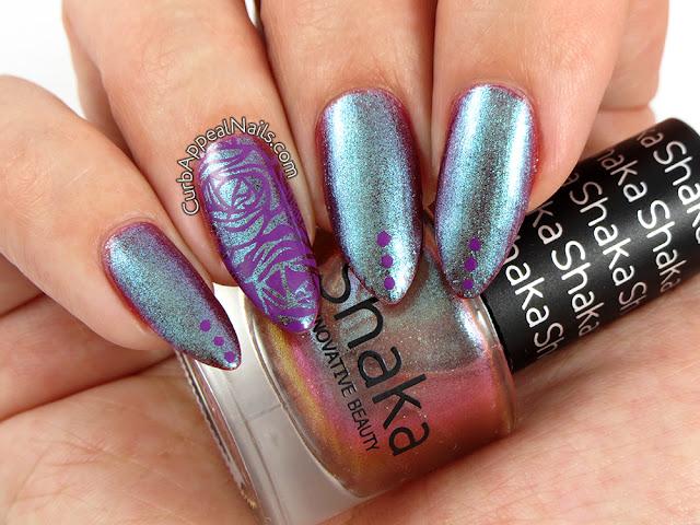 Shaka Metalgold stamped with Mundo de Unas Purple