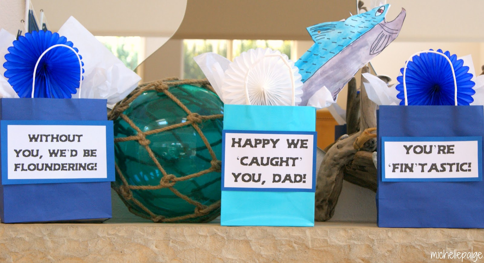 Michelle paige blogs father 39 s day fishing party for Fishing gifts for dad