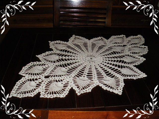 Lola y sus miniaturas centro de mesa en crochet - Centro de mesa a crochet ovalado ...