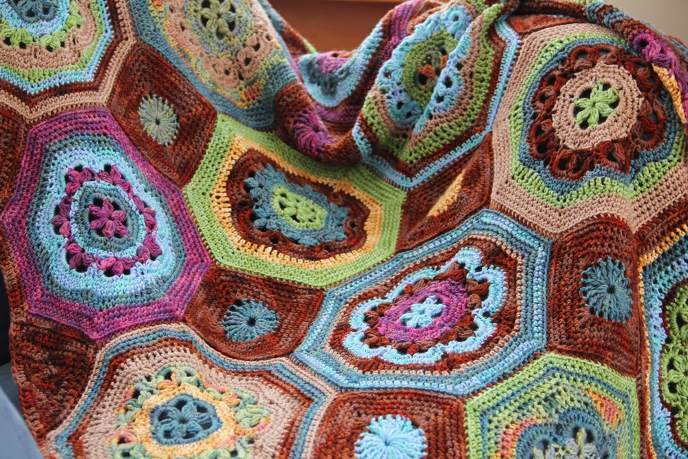 Mosaic Crochet Afghan Pattern : Nelkin Designs Blog: Moorish Mosaic Afghan: DONE!
