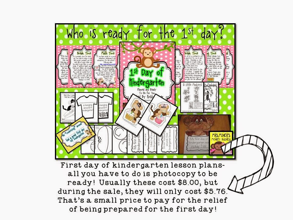 http://www.teacherspayteachers.com/Product/Back-to-School-Detailed-Lesson-Plans-for-the-1st-Day-of-Kindergarten-273937