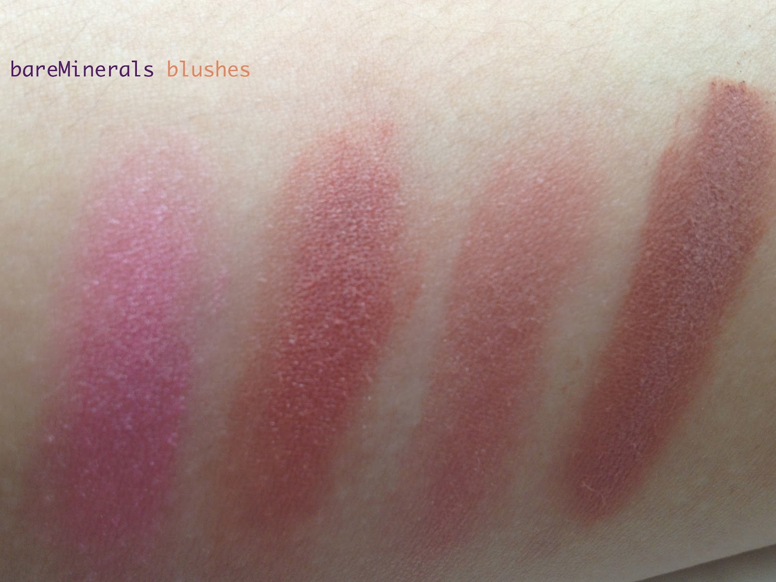 The Beauty Muse-ment: bareMinerals Blushes Review and Swatches