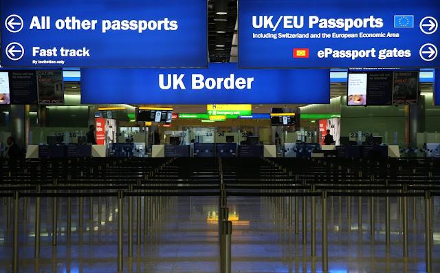 Imigração para entrar em Londres