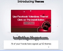 Valentine Malware in Theme Free on Facebook