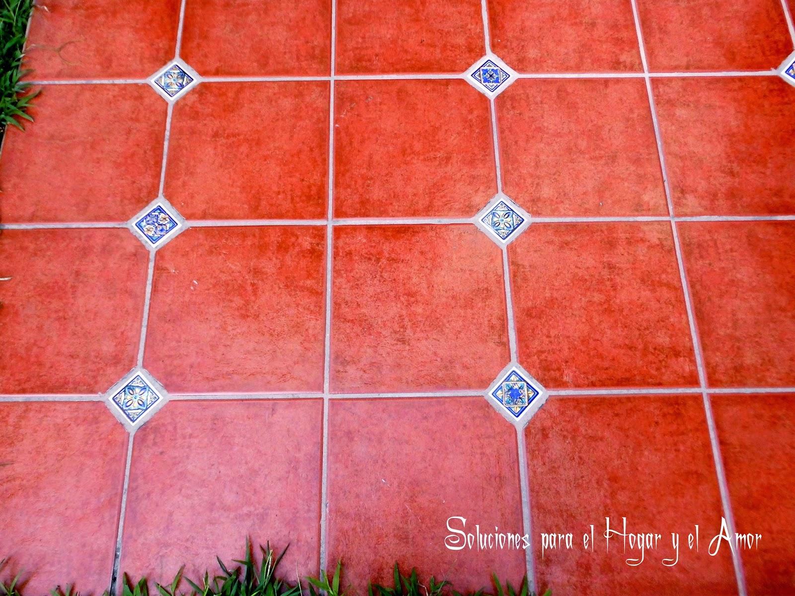 Soluciones para el hogar y el amor acentos decorativos de for Pisos para patios rusticos