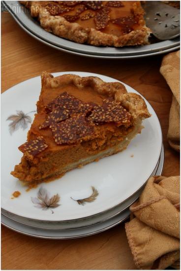 Pumpkin Pie w/ Sesame Snaps
