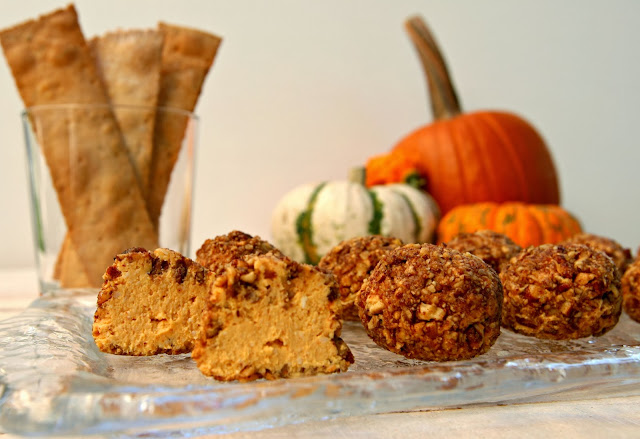 pumpkin goat cheese appetizer pecan coated goat cheese recipe