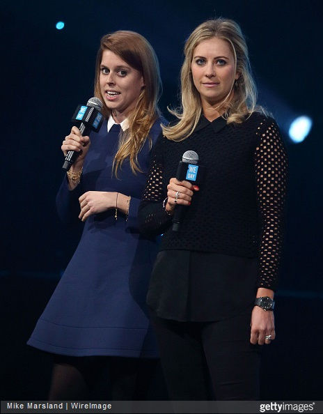 Princess Beatrice and Holly Branson attend We Day UK at Wembley Arena on March 5, 2015 in London, England.