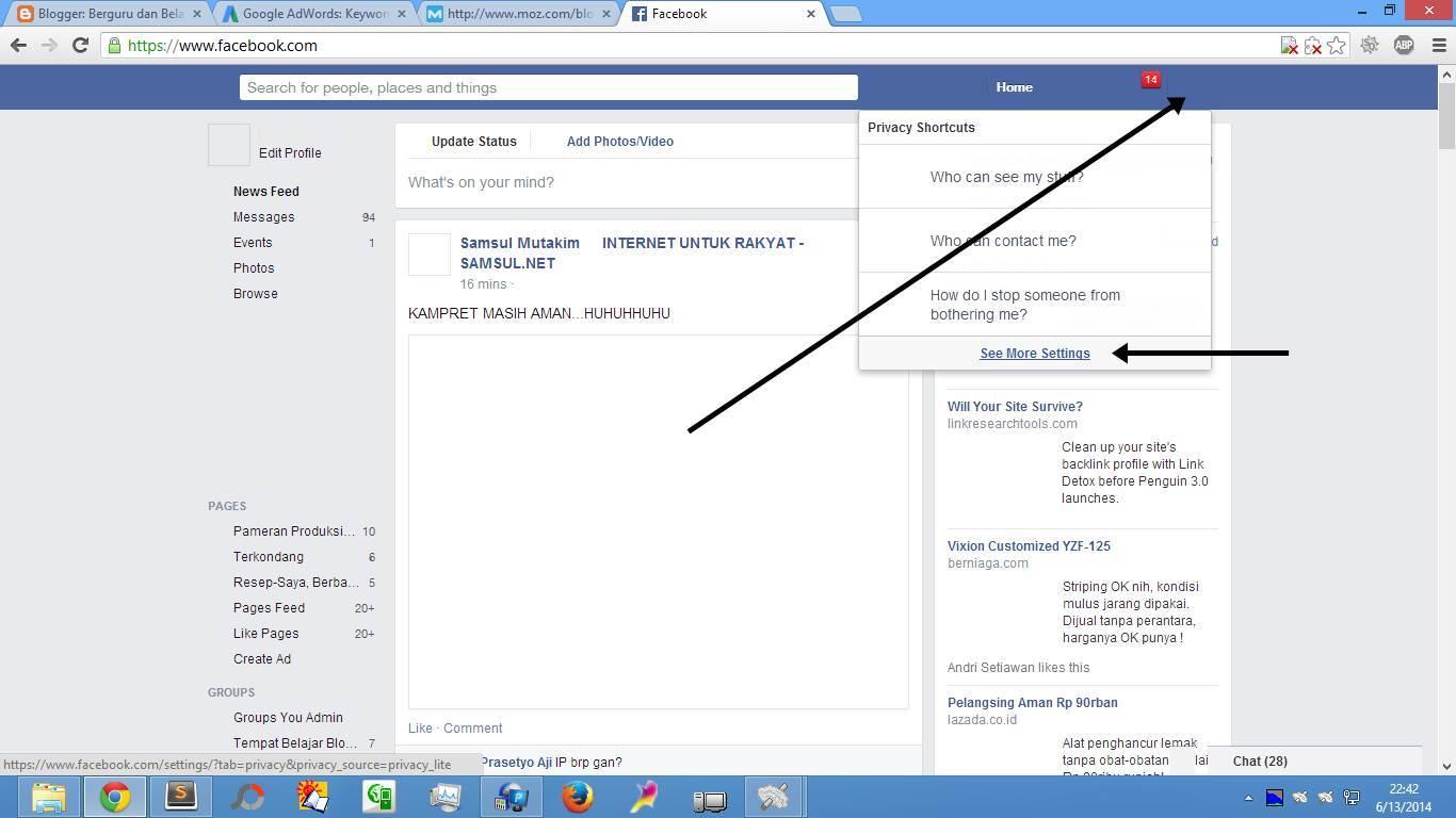 Cara Buat & Daftar Email Facebook (Gbr. 1)