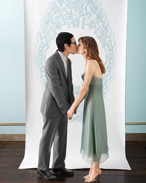 photocall boda azul