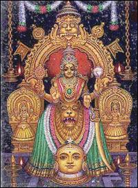 Picture of Goddess Mookambika Devi of Kollur Mookambika Temple in Karnataka