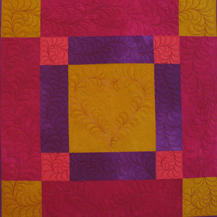 Hand Quilting Heart Patterns : Selvage Blog: Patsy Thompson s Amish Quilt