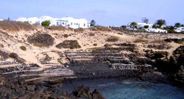 Naturist village Charco del Palo (Lanzarote, Canary Islands, Spain)