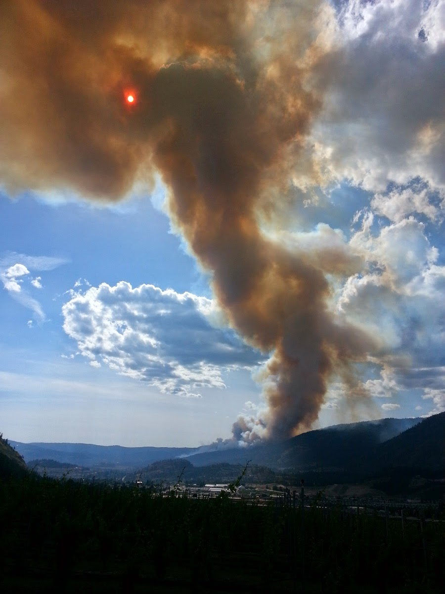 early photo of the Smith Creek Fire