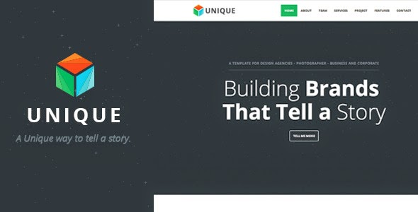 Unique - Parallax One Page HTML Template