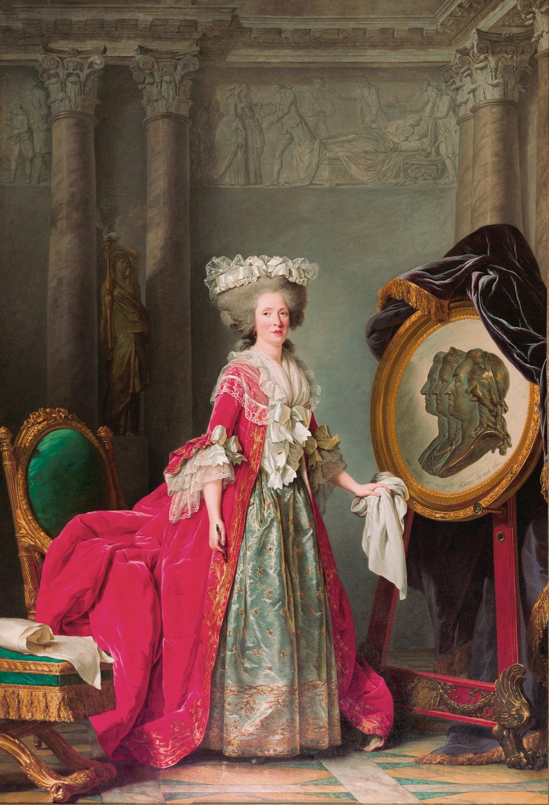 examine adelaide labille guiard s self portrait two pupils Despite the inevitable comparisons with labille-guiard's younger known for devotion to her female pupils portrait of a woman.
