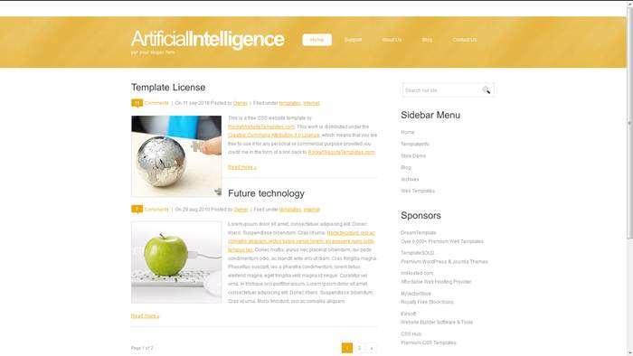 Artificial-intelligence CSS Template