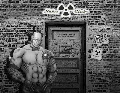 """""""Cyborg Club"""", illustrazione di Giorgio Borroni per gli interni di Altrisogni n.7"""