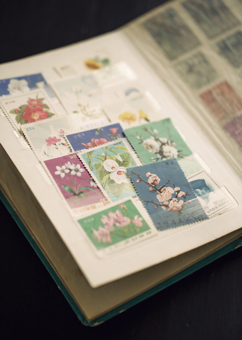 stamp book and stamps by gretchen gretchen