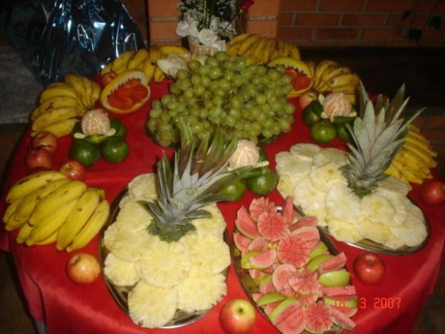 Fus o eventos e entretenimento decora o mesa de frutas - Adornos de frutas para mesas ...