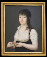 Retrato miniatura de María Gabriela de Palafox y Portocarrero, marquesa de Lazán, por José Alonso del Rivero, 1805