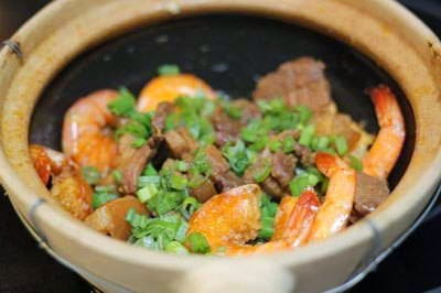 Braised Pork Meat with Prawns - Heo Rim Tôm