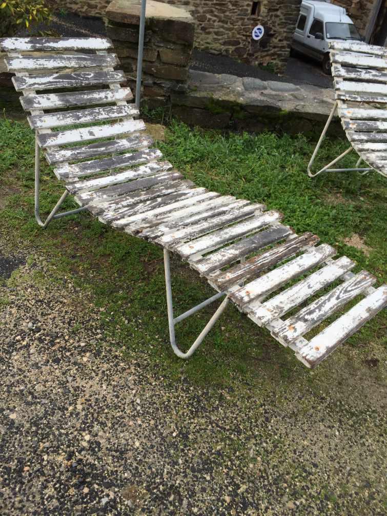 la boutique antiquite le blog transat bois et metal et. Black Bedroom Furniture Sets. Home Design Ideas