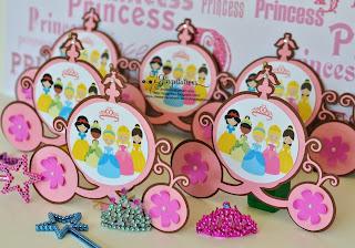 Disney Princess Baby Shower Invitations Cinderella, Snow White, Belle, Sleeping Beauty and Princess Tiana