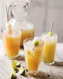 Melon Spritzers, Grown-up limeade, and Peach Punch