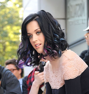 glamour katy perry hair color