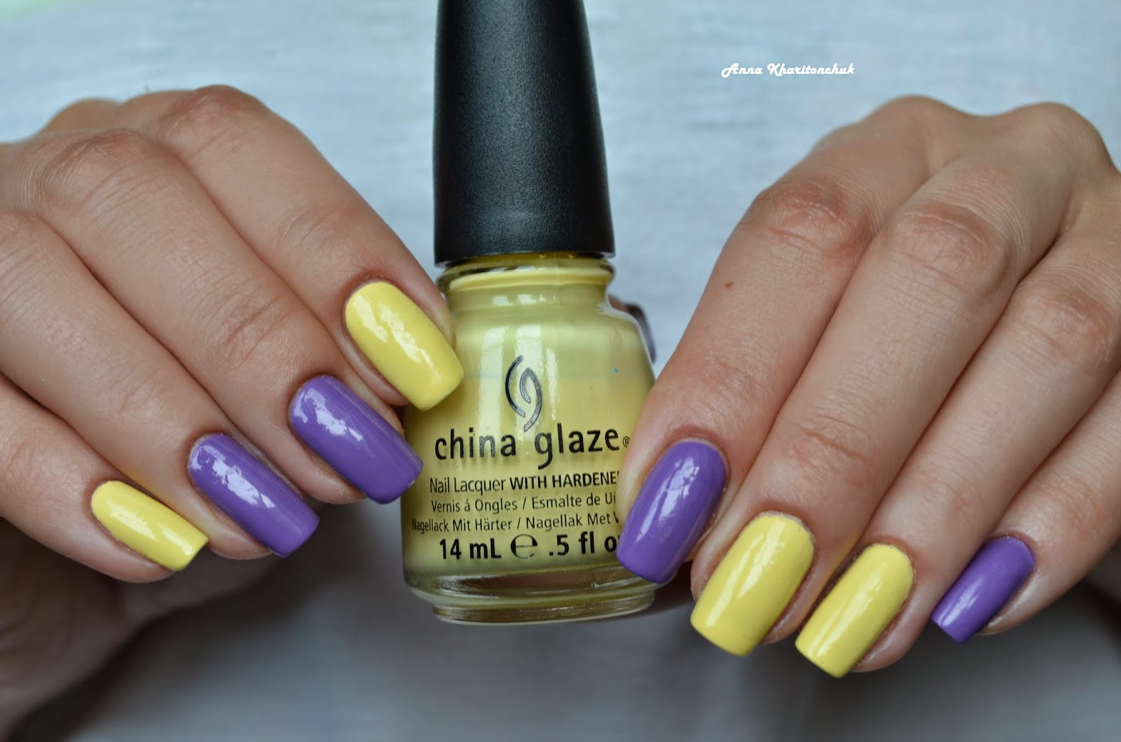 Дуэт China Glaze Lemon Fizz и E.L.F. Likac