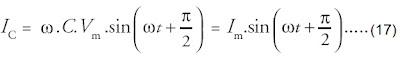 arus listrik rangkaian yang hanya terdiri atas sebuah elemen kapasitif dan generator AC