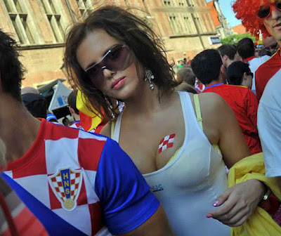 Croatia girls fans Euro 2012