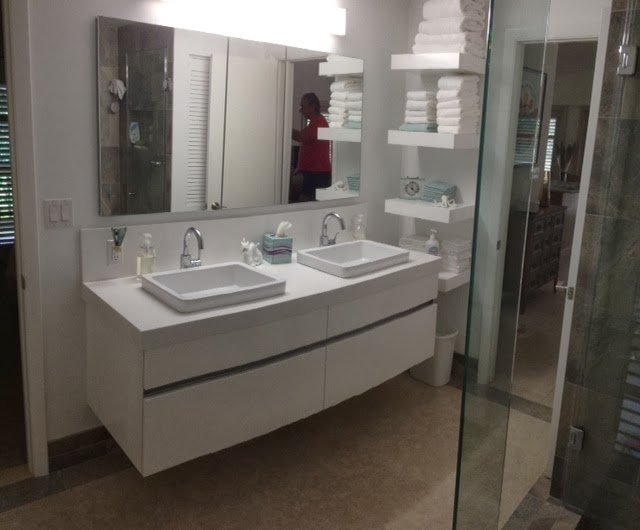 C Channel Wall Hung Cabinets And Floating Shelves By Crystal, TOTO Wall  Hung Toilet, A Fantastic And Affordable Tri View Mirror Medicine Cabinet  Over The ...