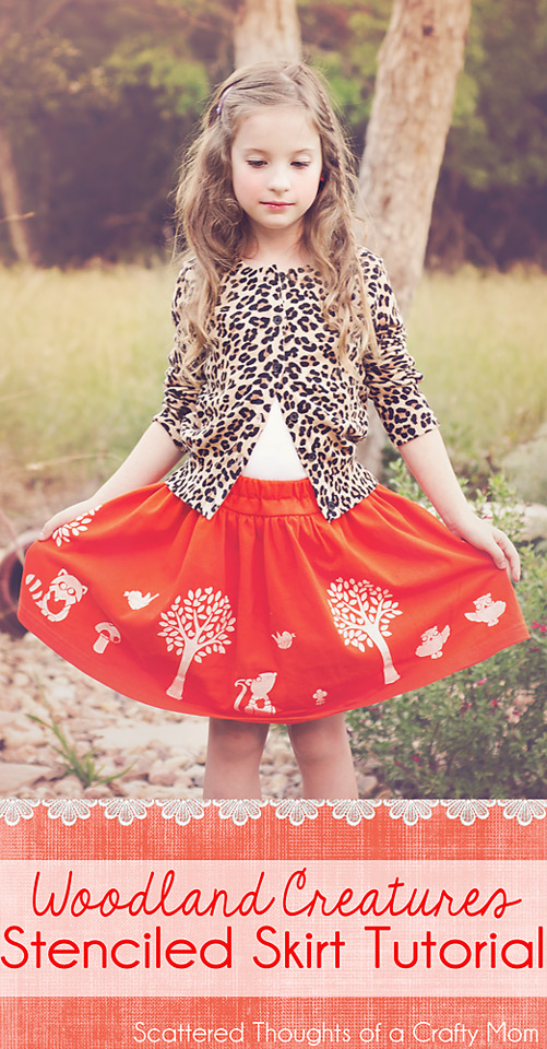 Check out this tutorial to see how to make an adorable and original skirt using fabric paint and stencils!