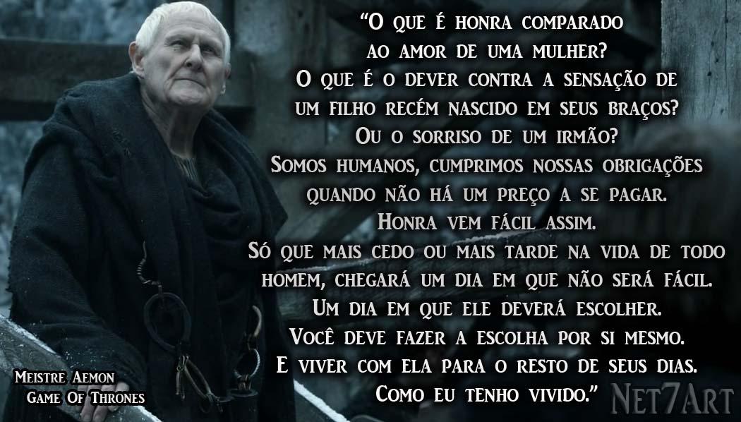 Frases Da Série Game Of Thrones Meistre Aemon Peter Vaughan