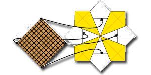 Cara Membuat Origami Bungan Matahari 2