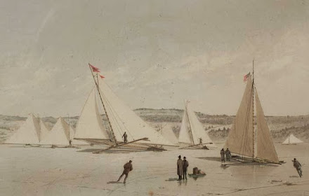 Ice Yachting on the Hudson, circa 1880
