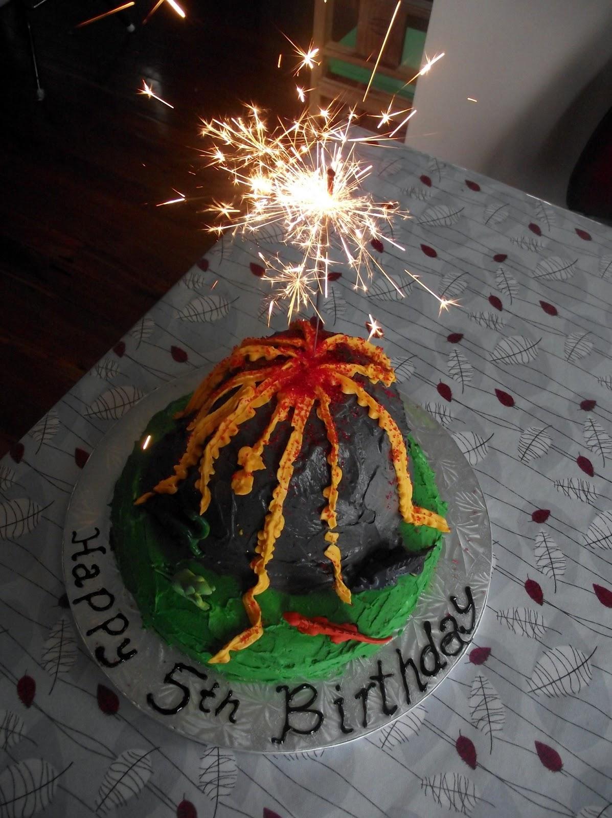 Jacksta B Volcano Cake For Birthday Boy