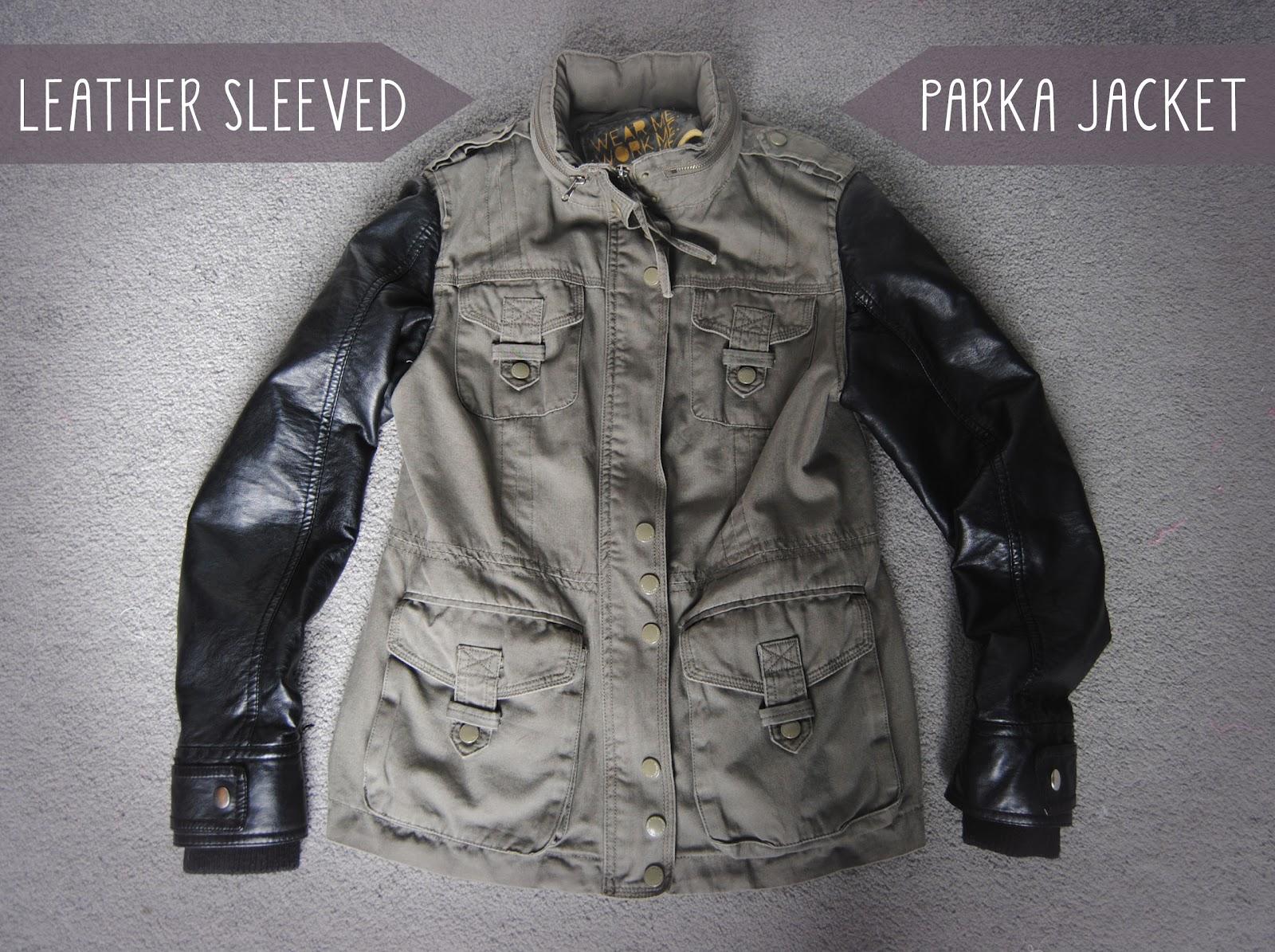Leather jacket diy - Diy Leather Sleeved Parka Jacket