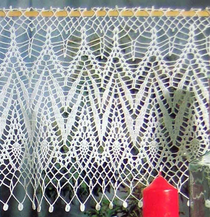 Mossita bella patrones y gr ficos crochet cortina for Cortinas de gancho para cocina