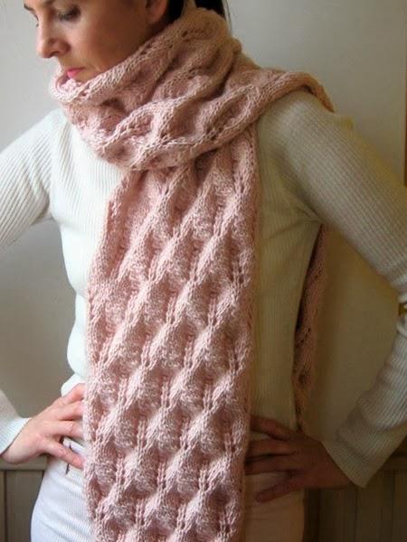 Вязание спицы женский шарф