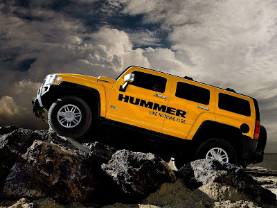 Yellow Hummer Off Road Modifaction - Hummer Cars Modification wallpaper