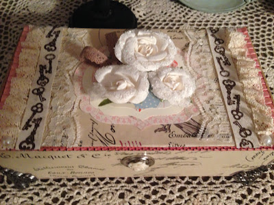 repurposed and decorated cigar box