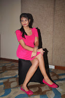 Nikitha Narayan Spicy Pics in Pink Dress at press meet