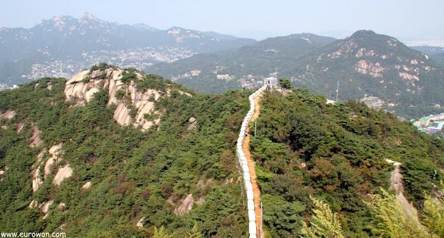 Parte norte de la muralla de Seúl