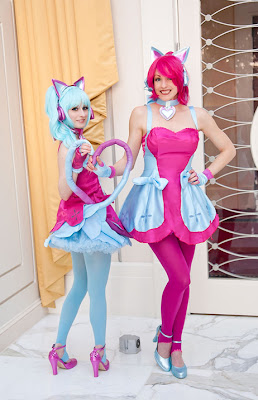 Cosplay girls with cat tails